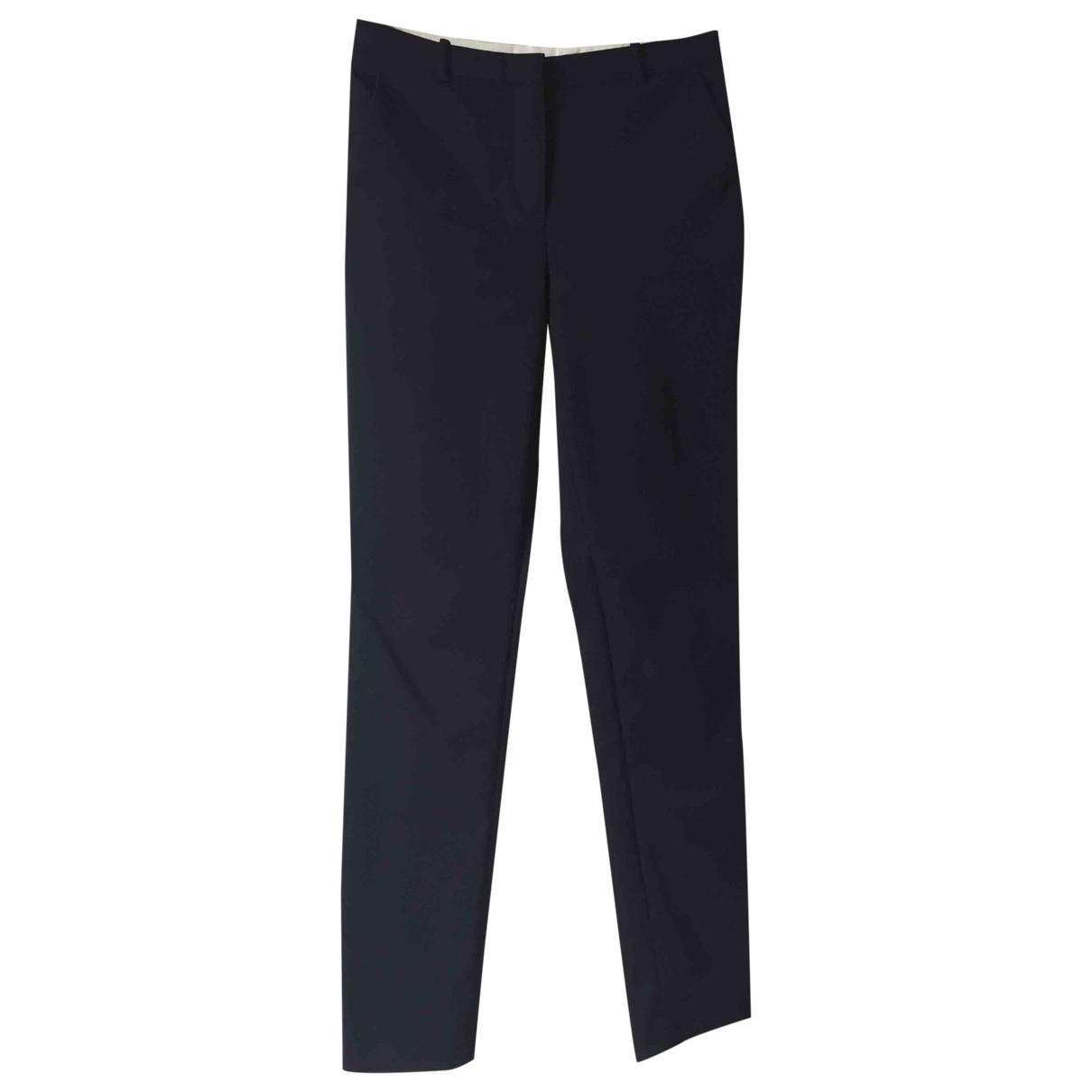 Whistles \N Navy Cotton Trousers for Women 8 UK