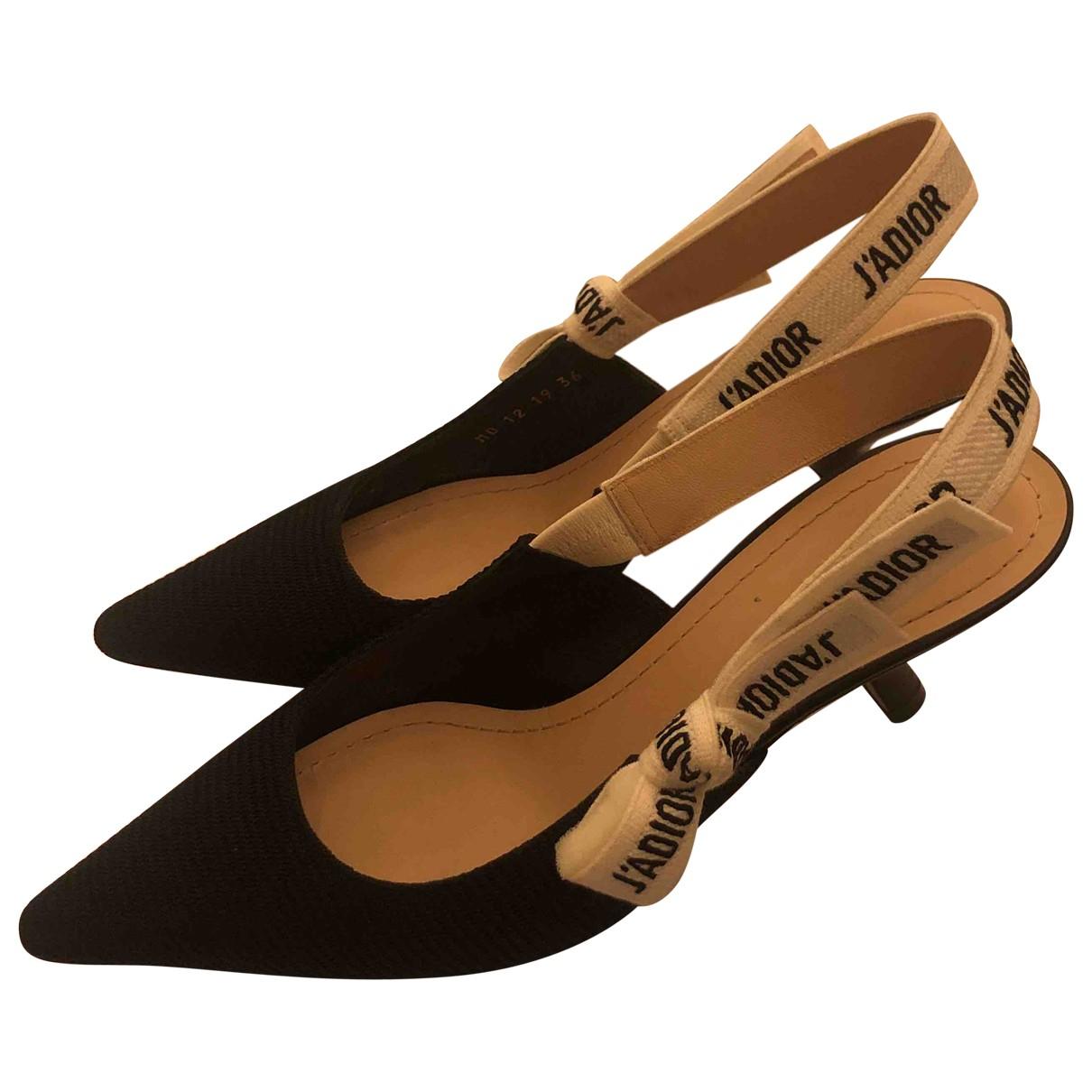 Dior J'adior Black Cloth Heels for Women 36 EU