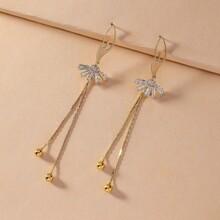 1 Paar Edelstein gravierte Balletttaenzer Design Ohrringe