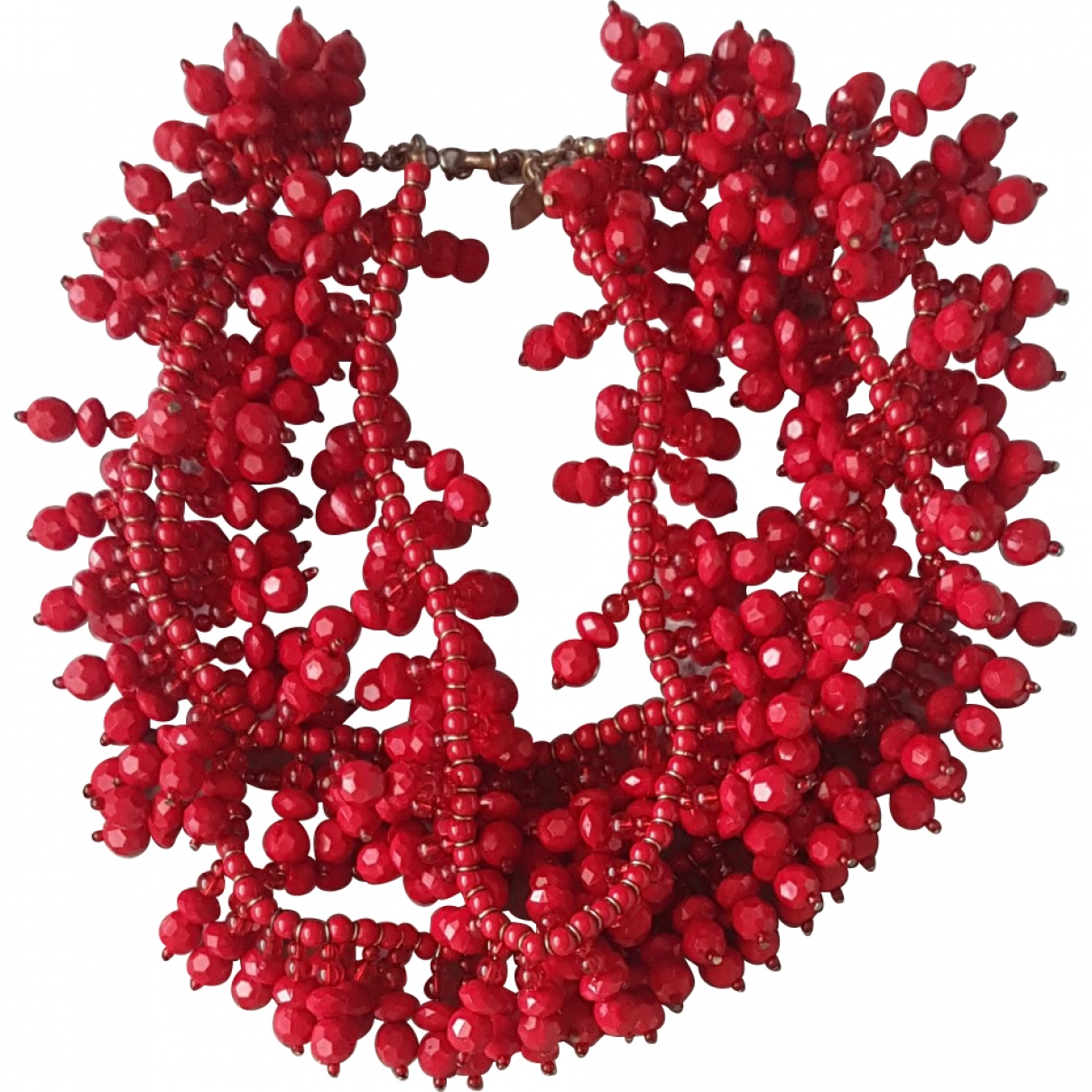 Uterque \N Red Steel necklace for Women \N