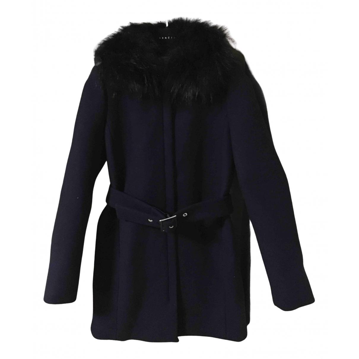 Claudie Pierlot Fall Winter 2019 Maentel in  Blau Wolle