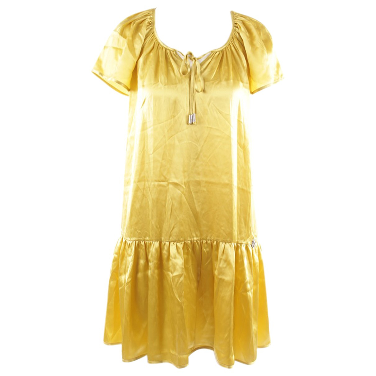 John Galliano \N Yellow Silk dress for Women 34 FR