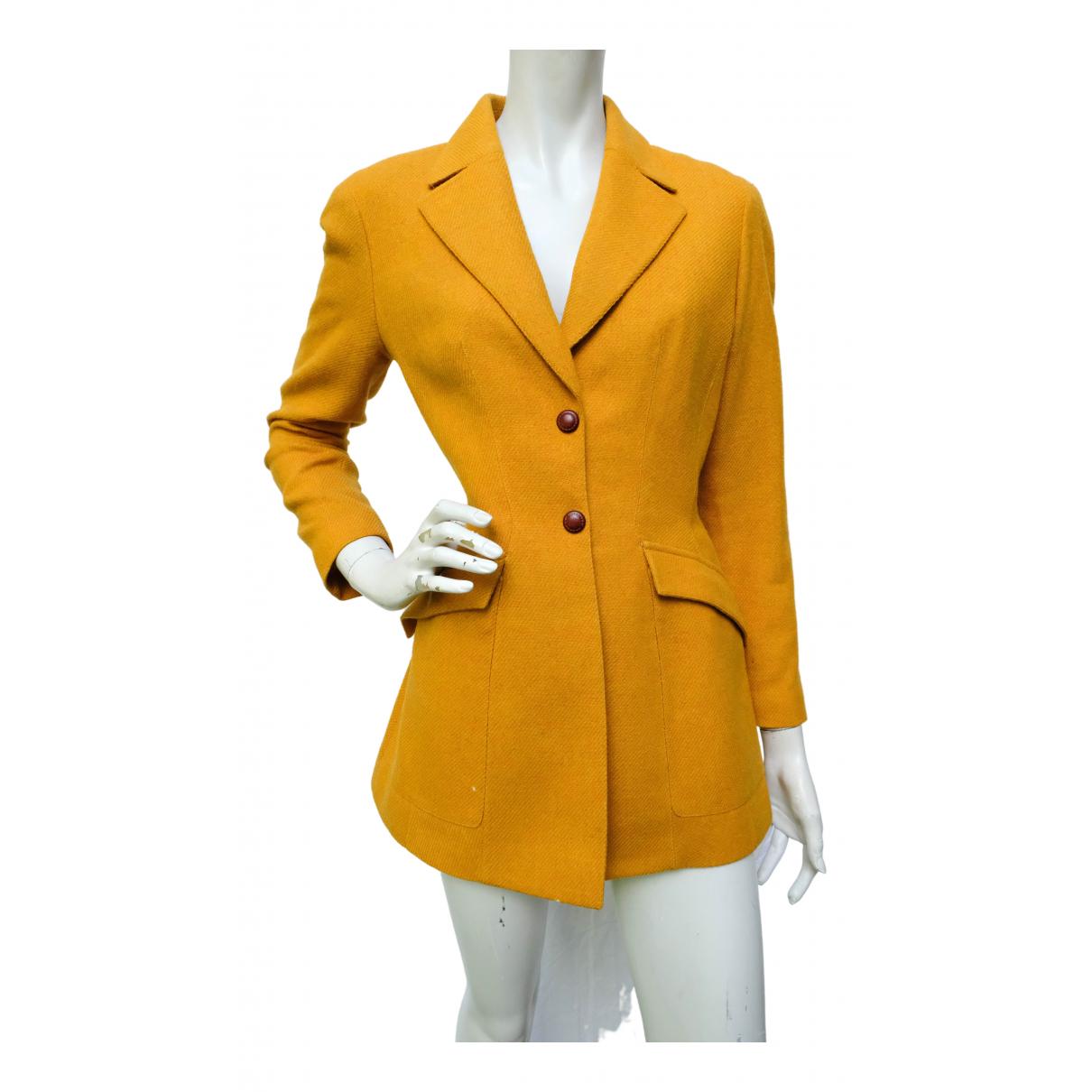 Mugler - Veste   pour femme en laine - jaune
