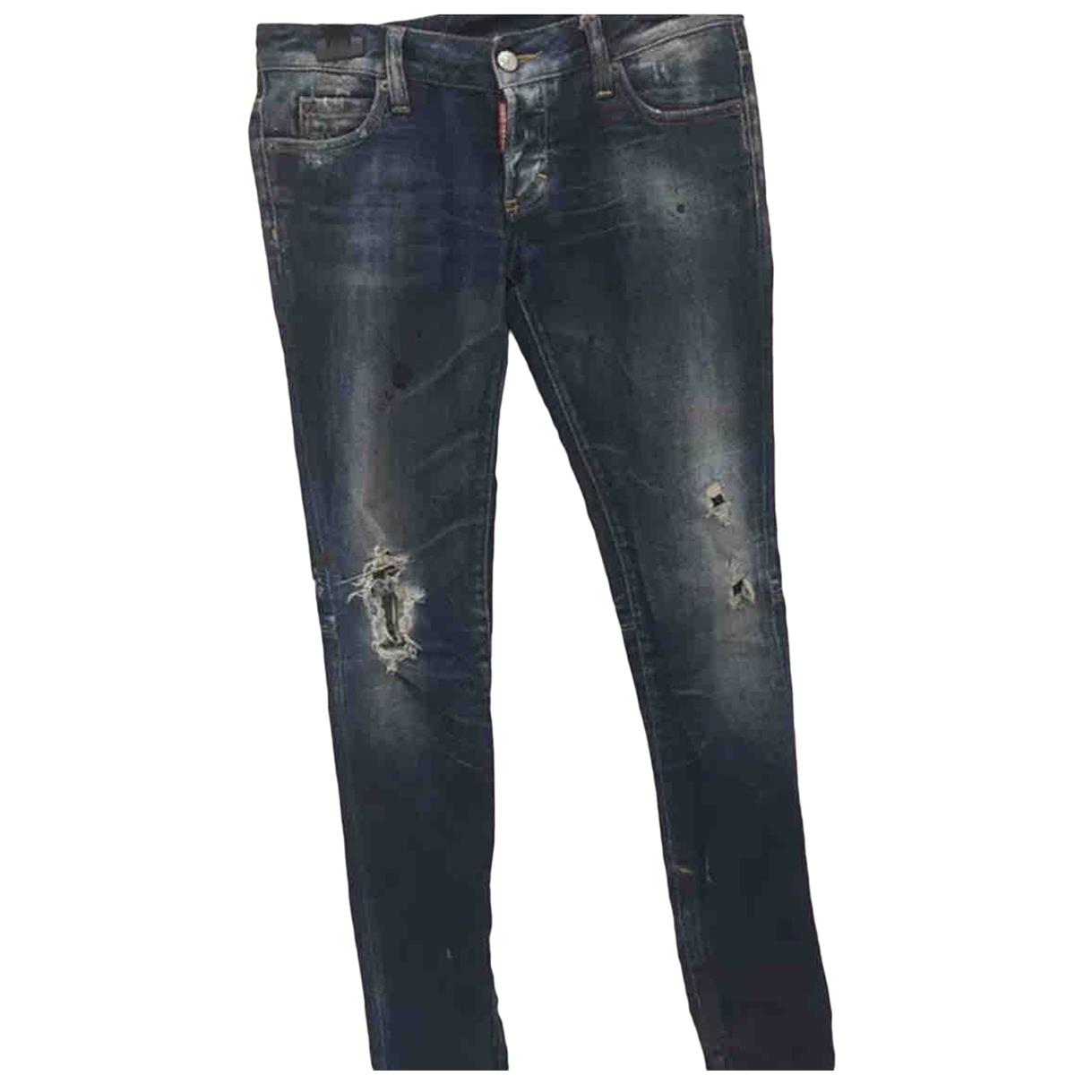 Dsquared2 \N Blue Cotton Jeans for Women 36 FR