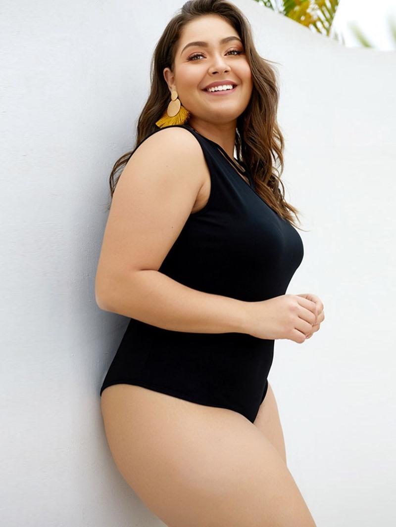 Ericdress Plus Size Hollow Sexy Skinny Bodysuit
