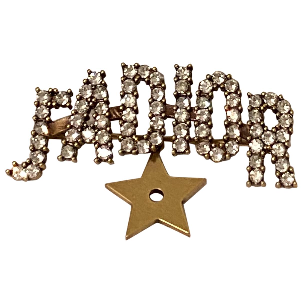 Dior Jadior Brosche in  Gold Metall