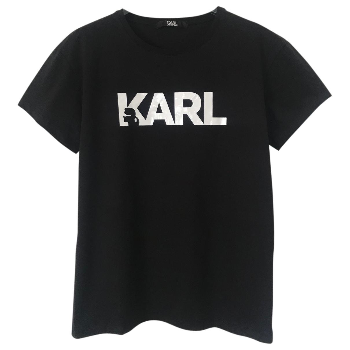 Karl Lagerfeld N Black Cotton  top for Women M International