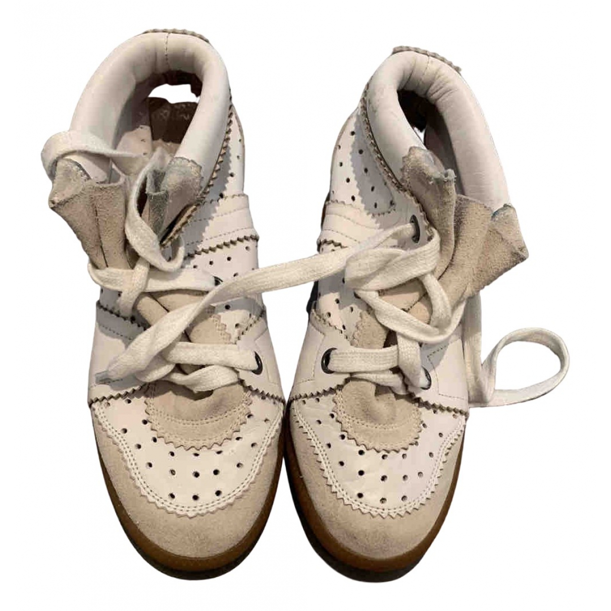 Isabel Marant Bobby White Leather Trainers for Women 36 EU