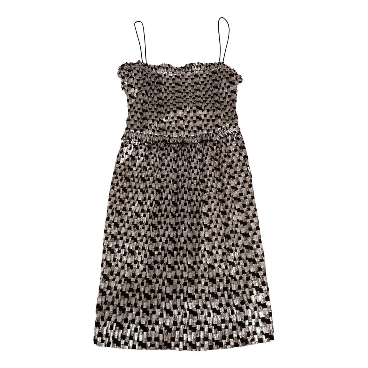 Zara \N Kleid in  Silber Polyester