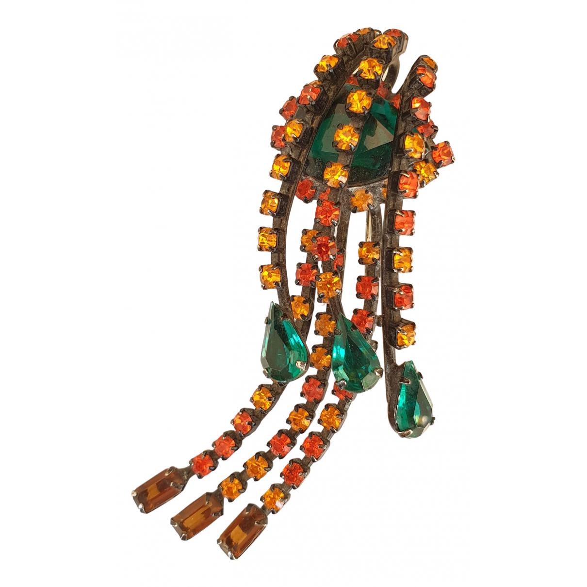 - Broche Motifs Noeuds pour femme en cristal - multicolore