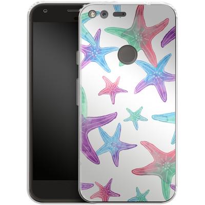 Google Pixel XL Silikon Handyhuelle - Starfish Print von Becky Starsmore