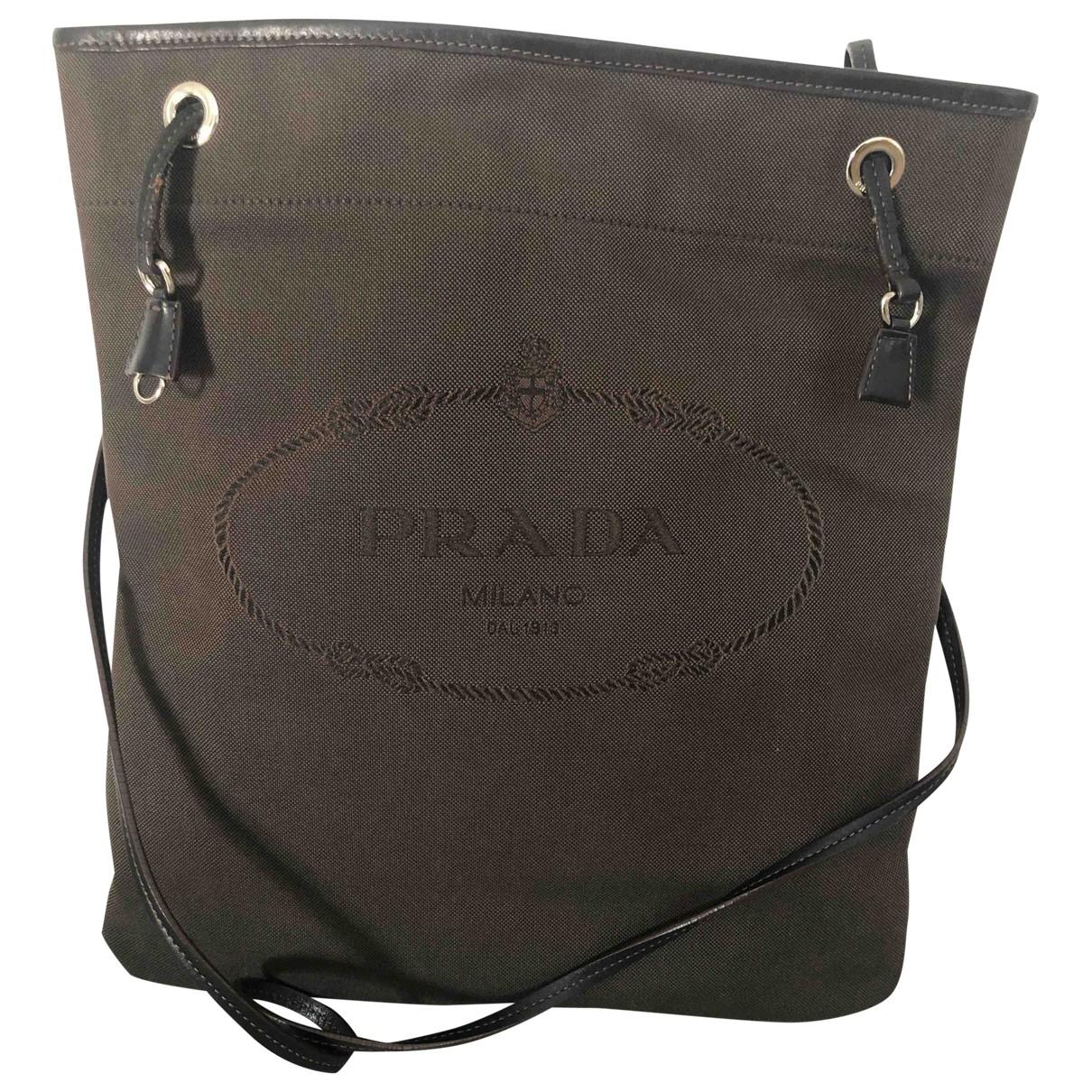 Prada Tessuto  Handtasche in  Braun Baumwolle