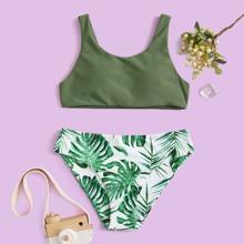 Girls Tropical Bikini Swimsuit