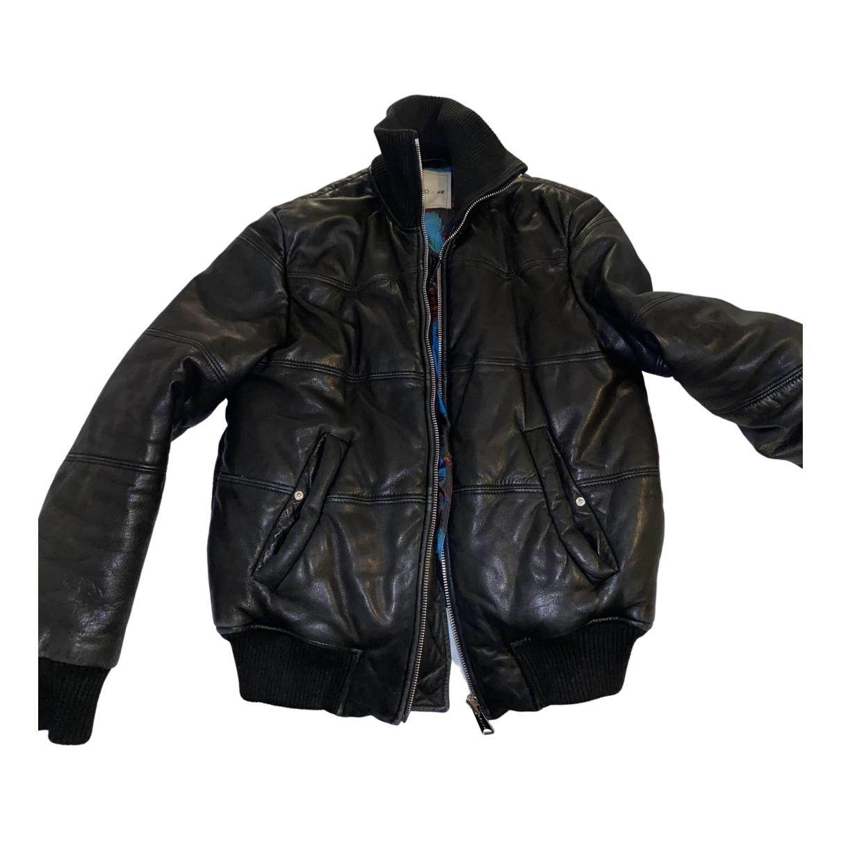 Kenzo X H&m - Veste   pour femme en cuir - noir