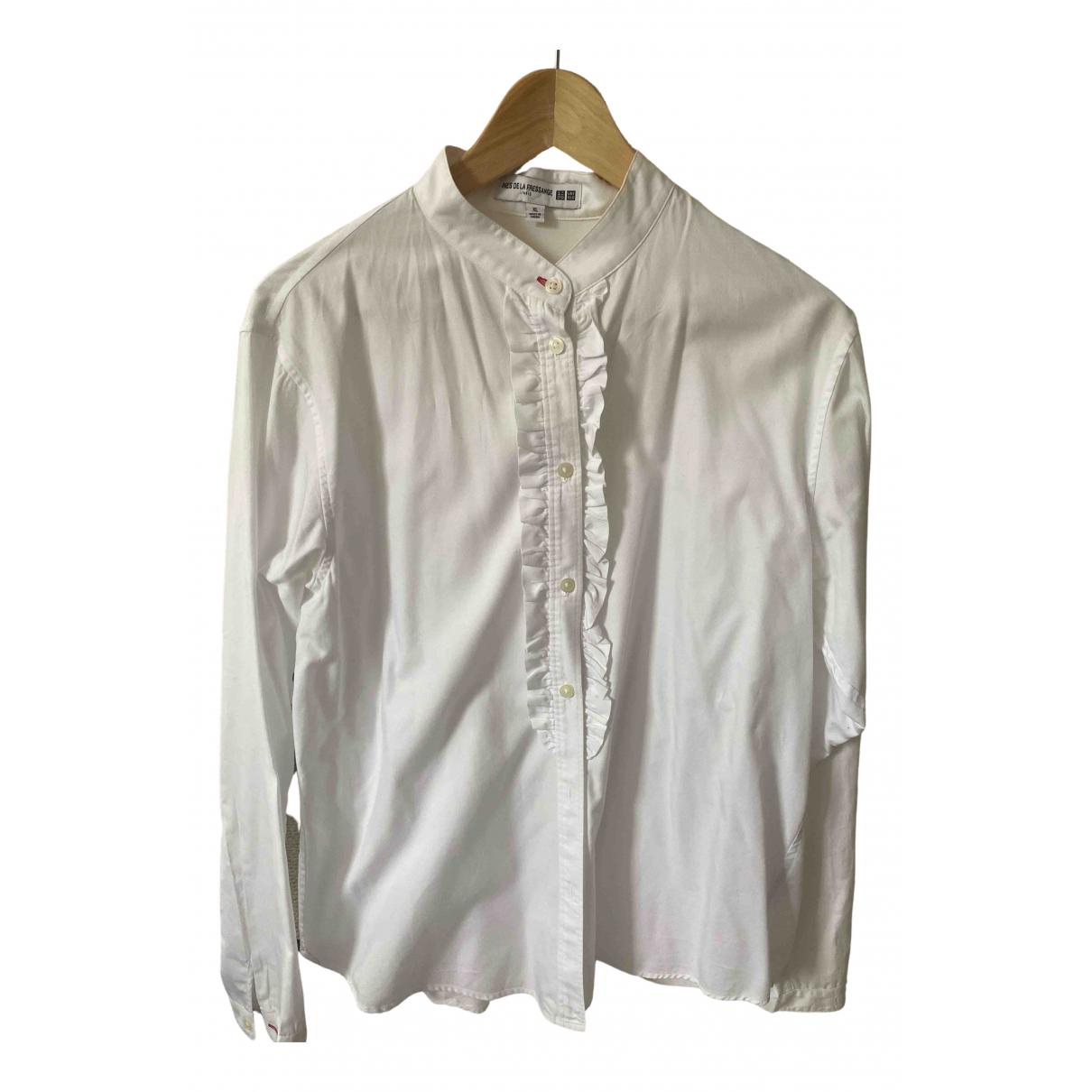 Uniqlo - Top   pour femme en coton - blanc