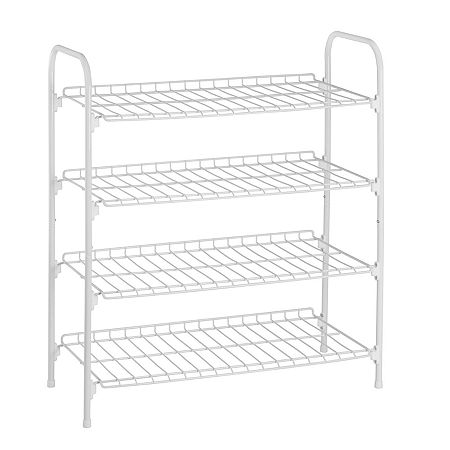 Honey-Can-Do Shoe Rack, One Size , White