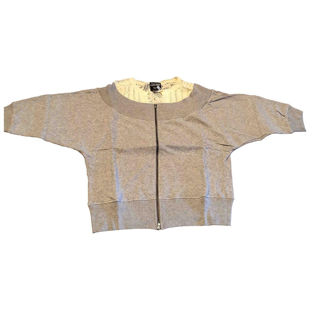 Jean Paul Gaultier \N Pullover in  Grau Baumwolle