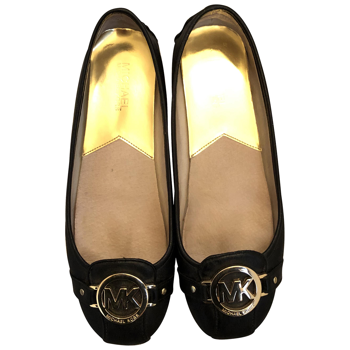 Michael Kors N Black Leather Ballet flats for Women 39 IT