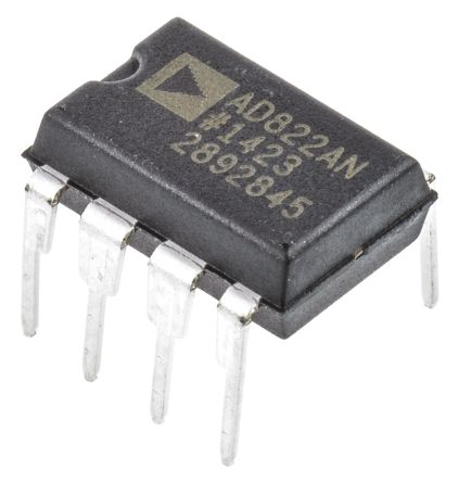 Analog Devices AD822ANZ , Op Amp, RRO, 1.8MHz, 6 → 28 V, 8-Pin PDIP