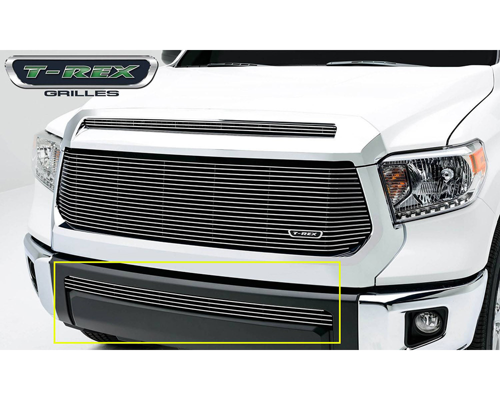 2014-2019 Tundra Billet Bumper Grille, Polished, 1 Pc, Overlay - PN #25964