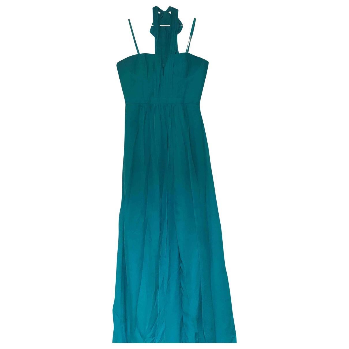 Bcbg Max Azria - Robe   pour femme en soie - turquoise