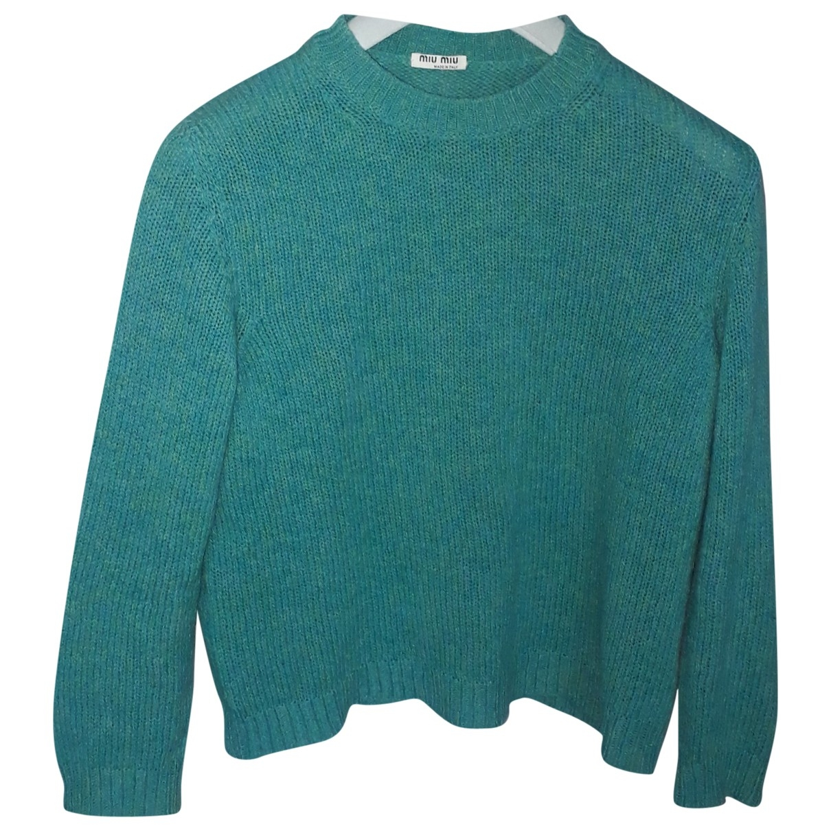 Miu Miu \N Turquoise Wool Knitwear for Women 40 IT
