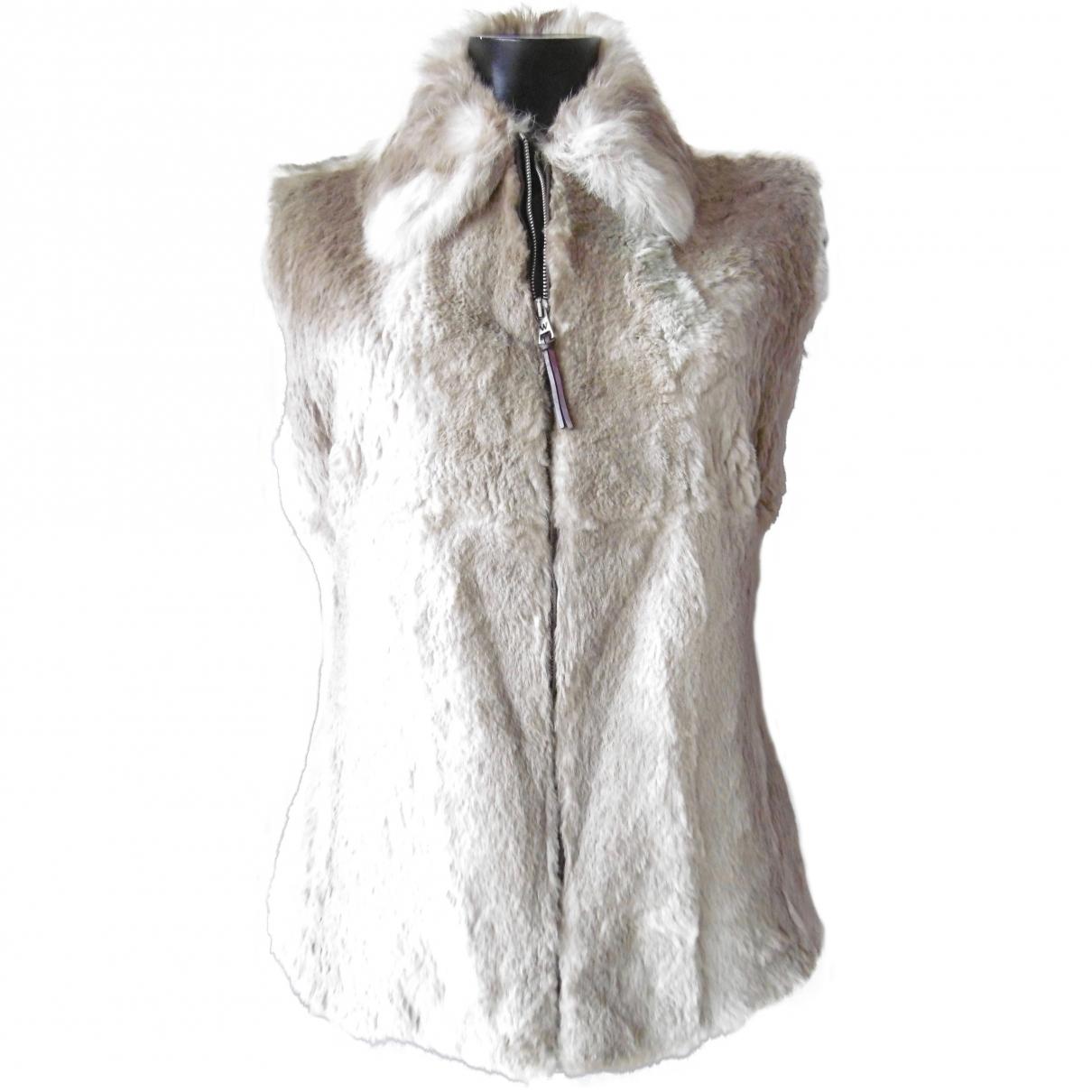 Max Mara Weekend \N Beige Rabbit jacket for Women 42 FR
