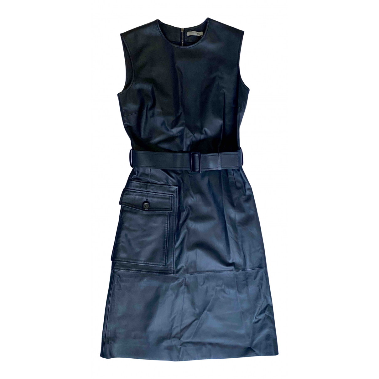 Bottega Veneta N Black Leather dress for Women 38 IT