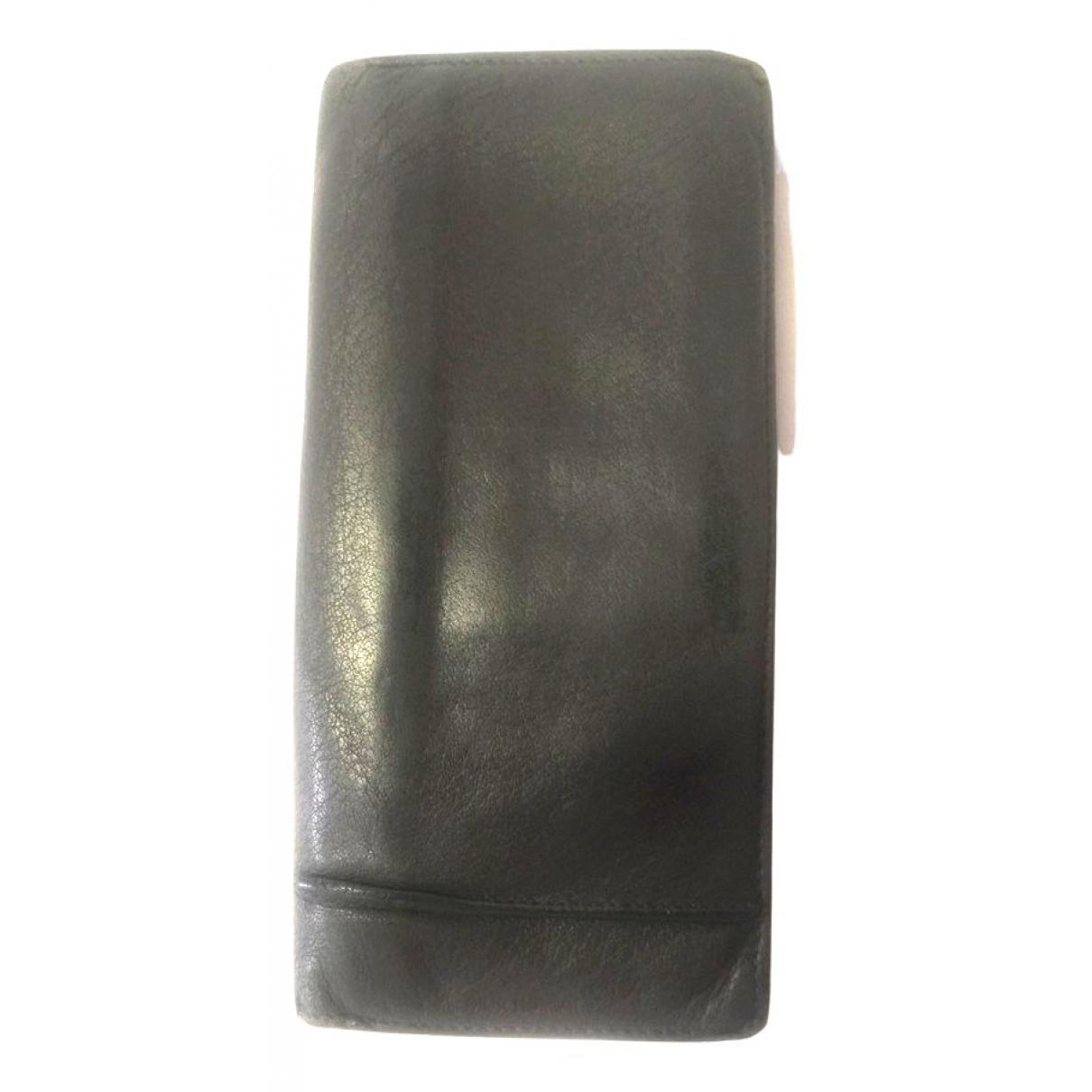 Dior Homme - Petite maroquinerie   pour homme en cuir - gris