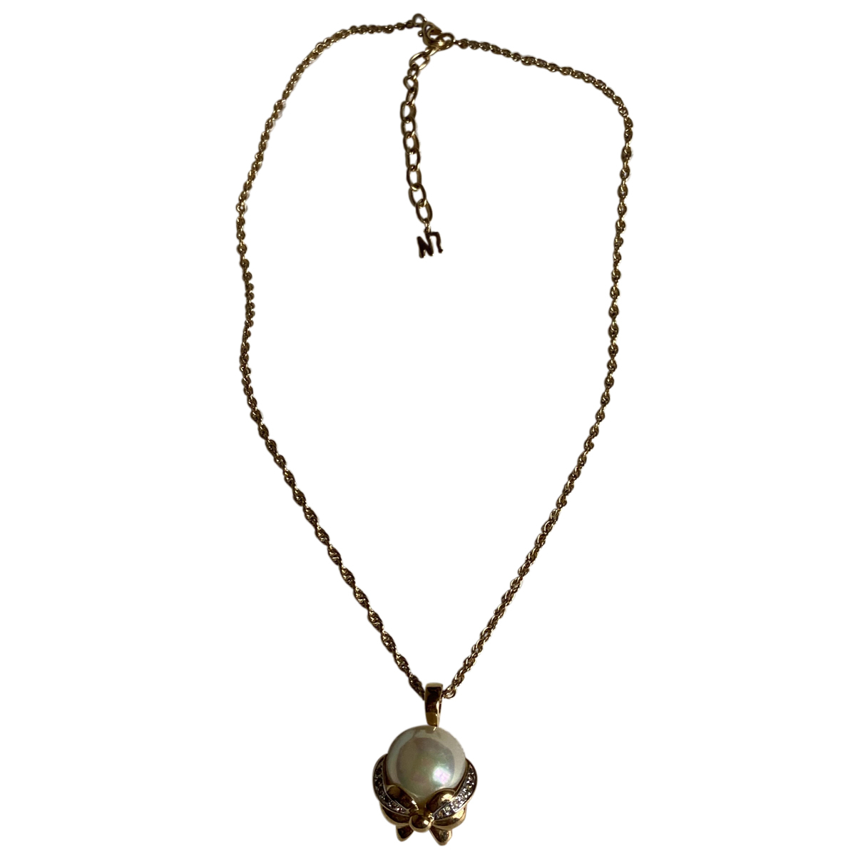 Nina Ricci N Gold Metal necklace for Women N