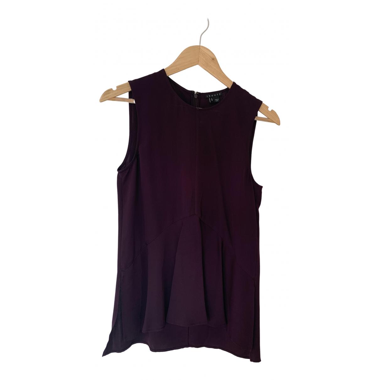 Theory - Top   pour femme en soie - violet