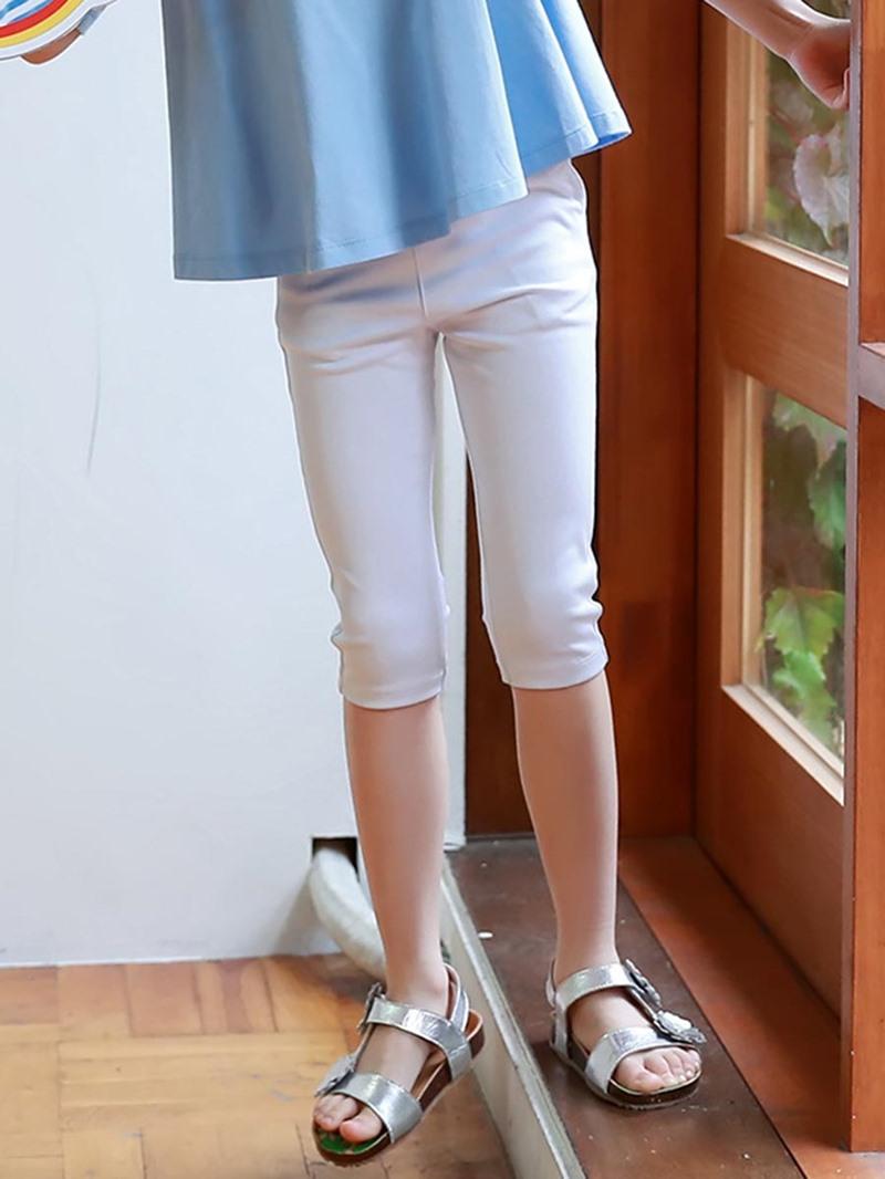 Ericdress Plain Close-fitting Elastic Girls Leggings