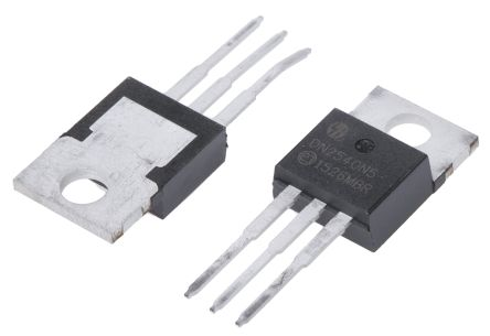 Microchip N-Channel MOSFET, 500 mA, 400 V Depletion, 3-Pin TO-220  DN2540N5-G (5)
