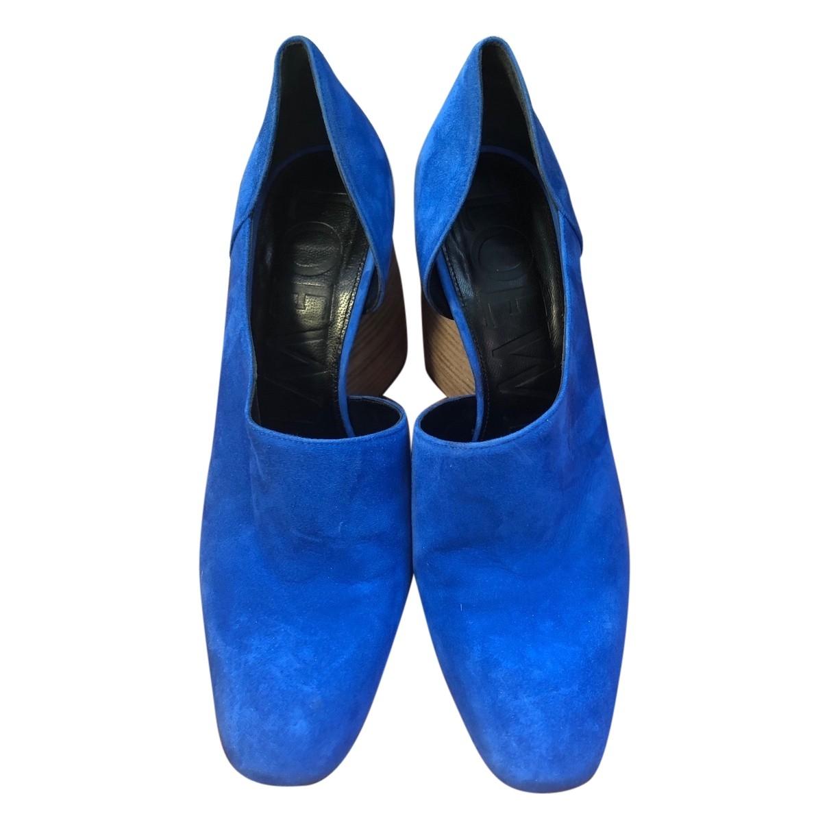 Loewe \N Blue Suede Heels for Women 38 EU