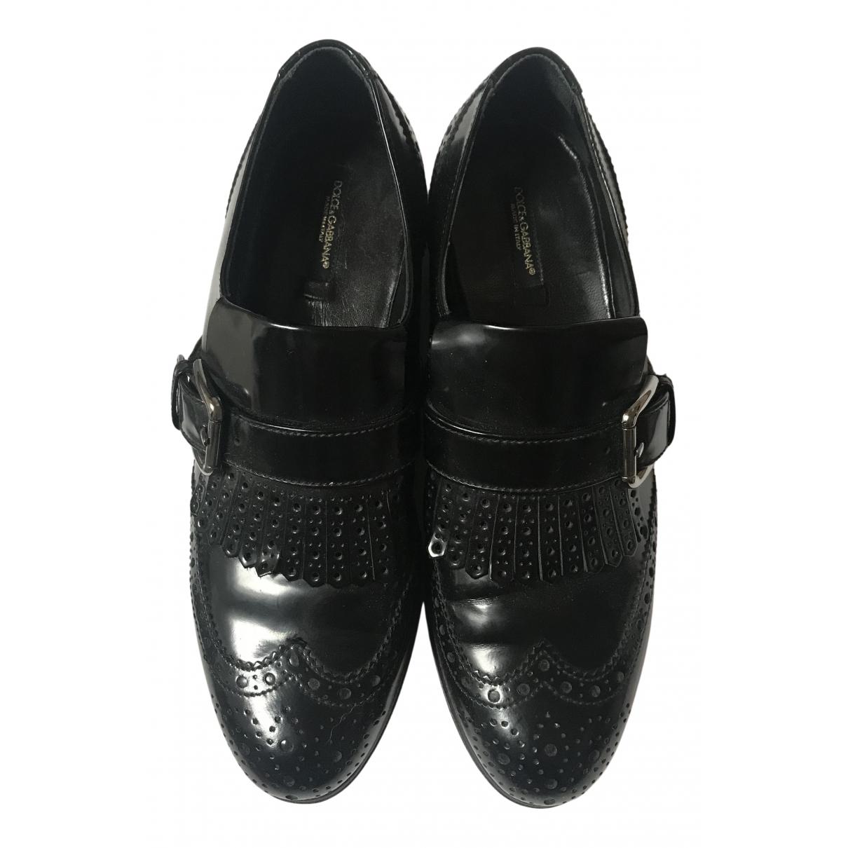 Dolce & Gabbana - Mocassins   pour femme en cuir - noir