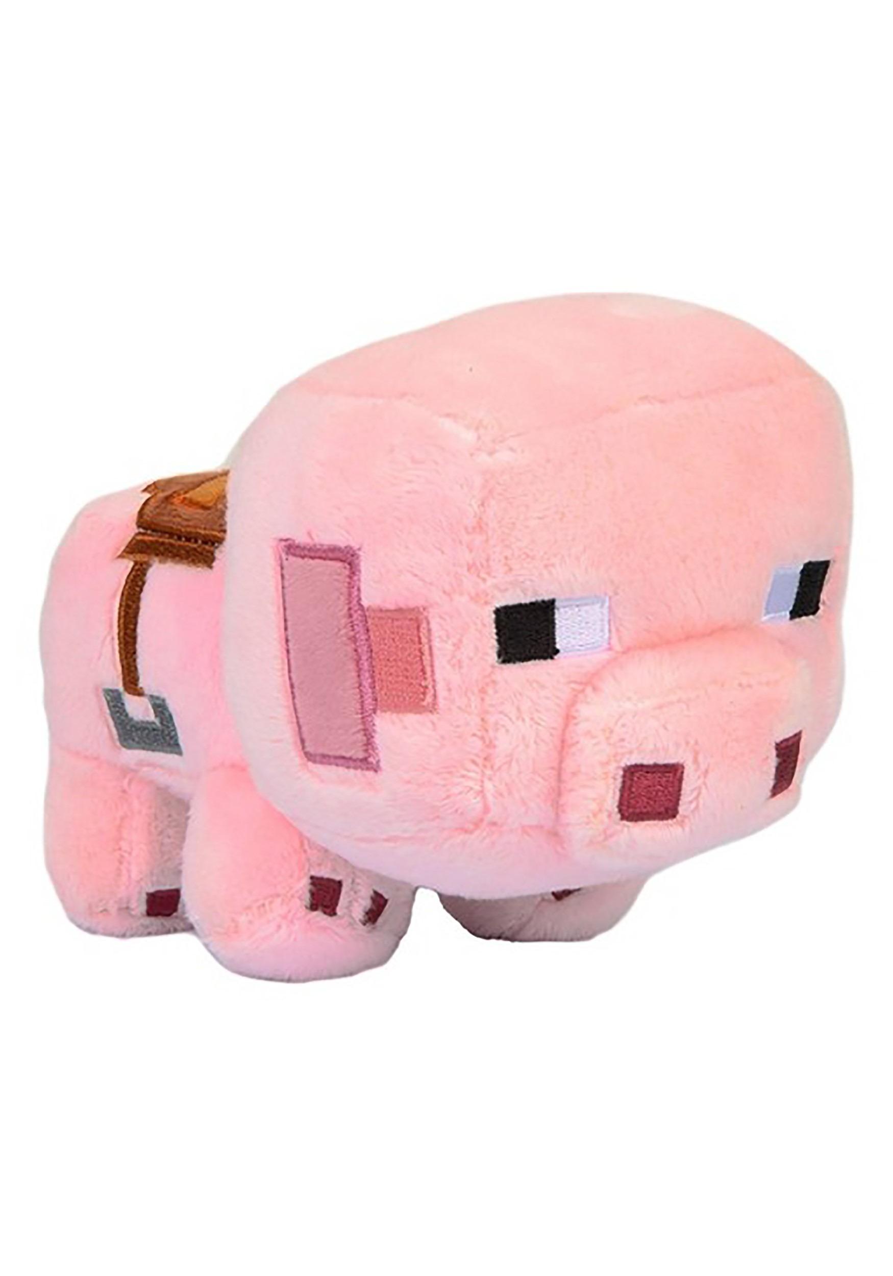 Minecraft Saddled Pig Stuffed Animal