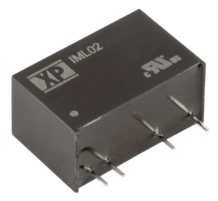 XP Power IML02 2W Isolated DC-DC Converter Through Hole, Voltage in 21.6 → 26.4 V dc, Voltage out ±3.3V dc