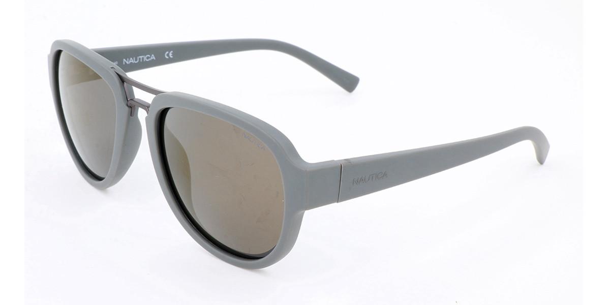 Nautica N3625SP Polarized 014 Men's Sunglasses Grey Size 57