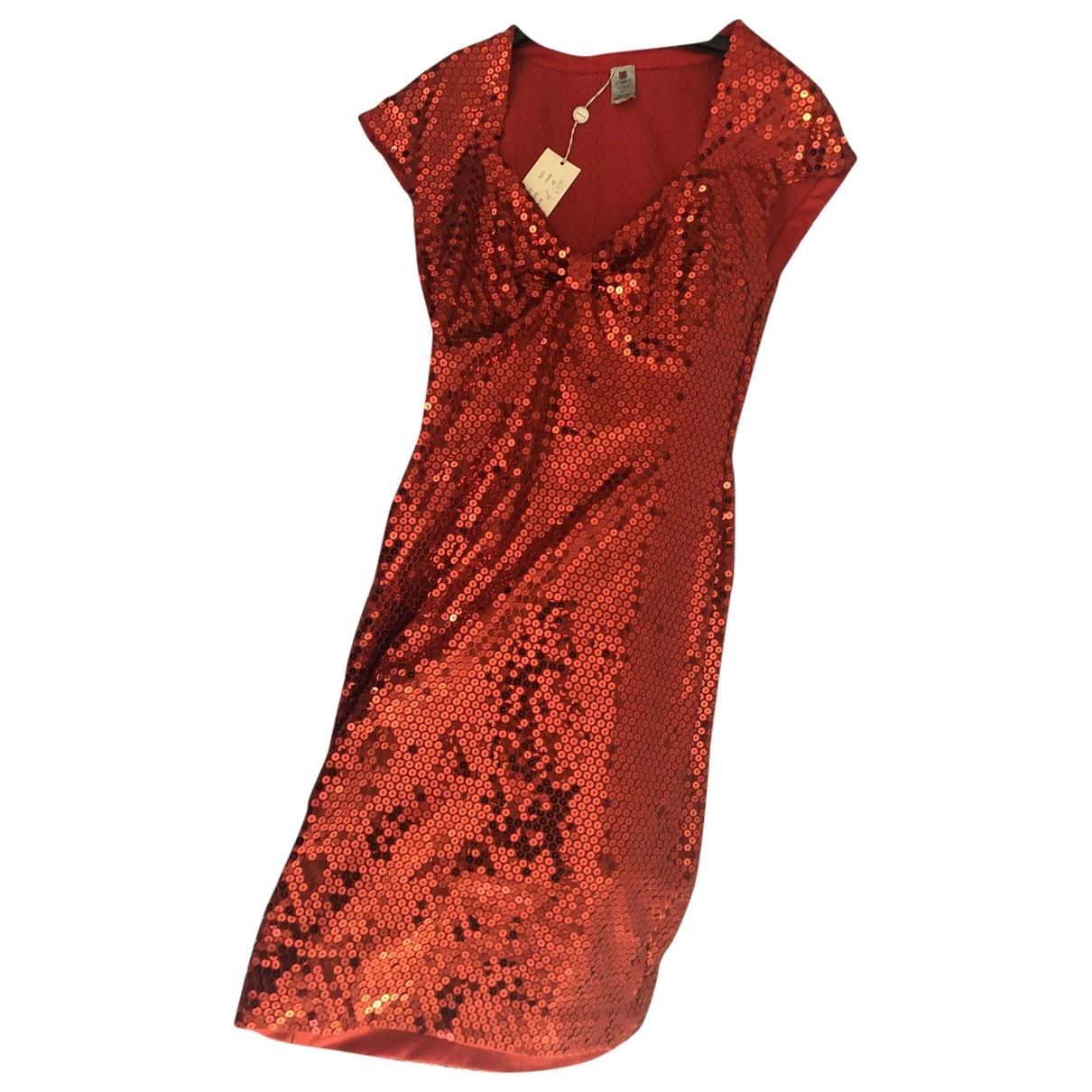 Emanuel Ungaro - Robe   pour femme en a paillettes - rouge