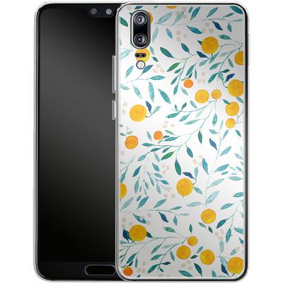 Huawei P20 Silikon Handyhuelle - Fresh Citrus von Iisa Monttinen
