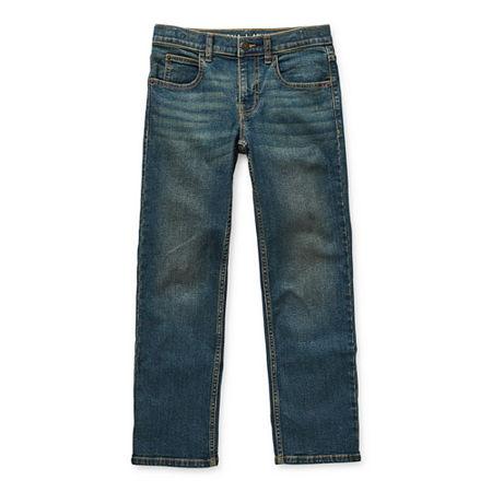 Arizona Flex Little & Big Boys Stretch Straight Leg Jean, 18 Slim , Blue