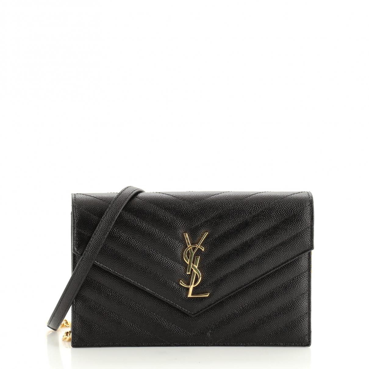 Saint Laurent \N Black Leather handbag for Women \N