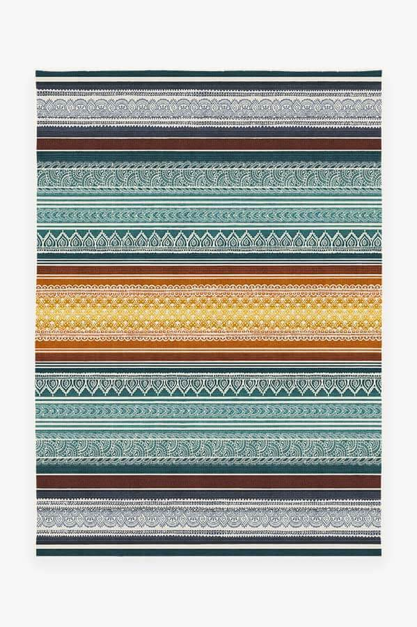 Washable Rug Cover | Nira Polychrome Rug | Stain-Resistant | Ruggable | 5'x7'