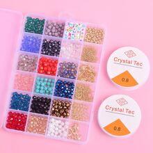 Set de joya de niñas con cuenta de colores