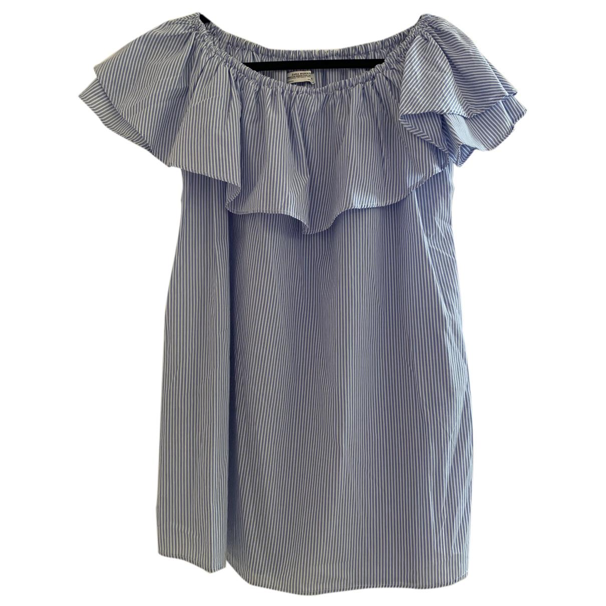 Zara - Robe   pour femme - bleu