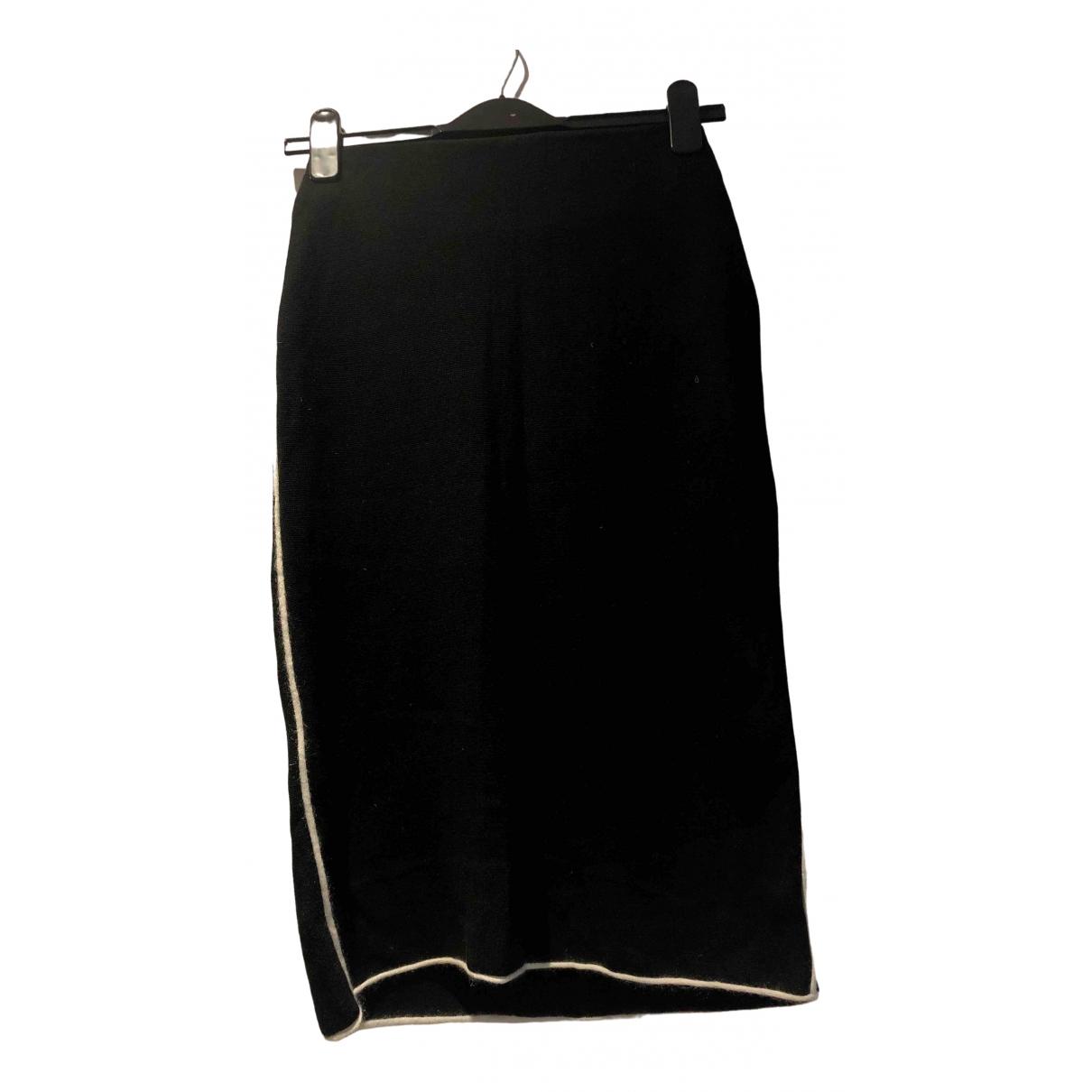 Cos - Jupe   pour femme en coton - elasthane - noir