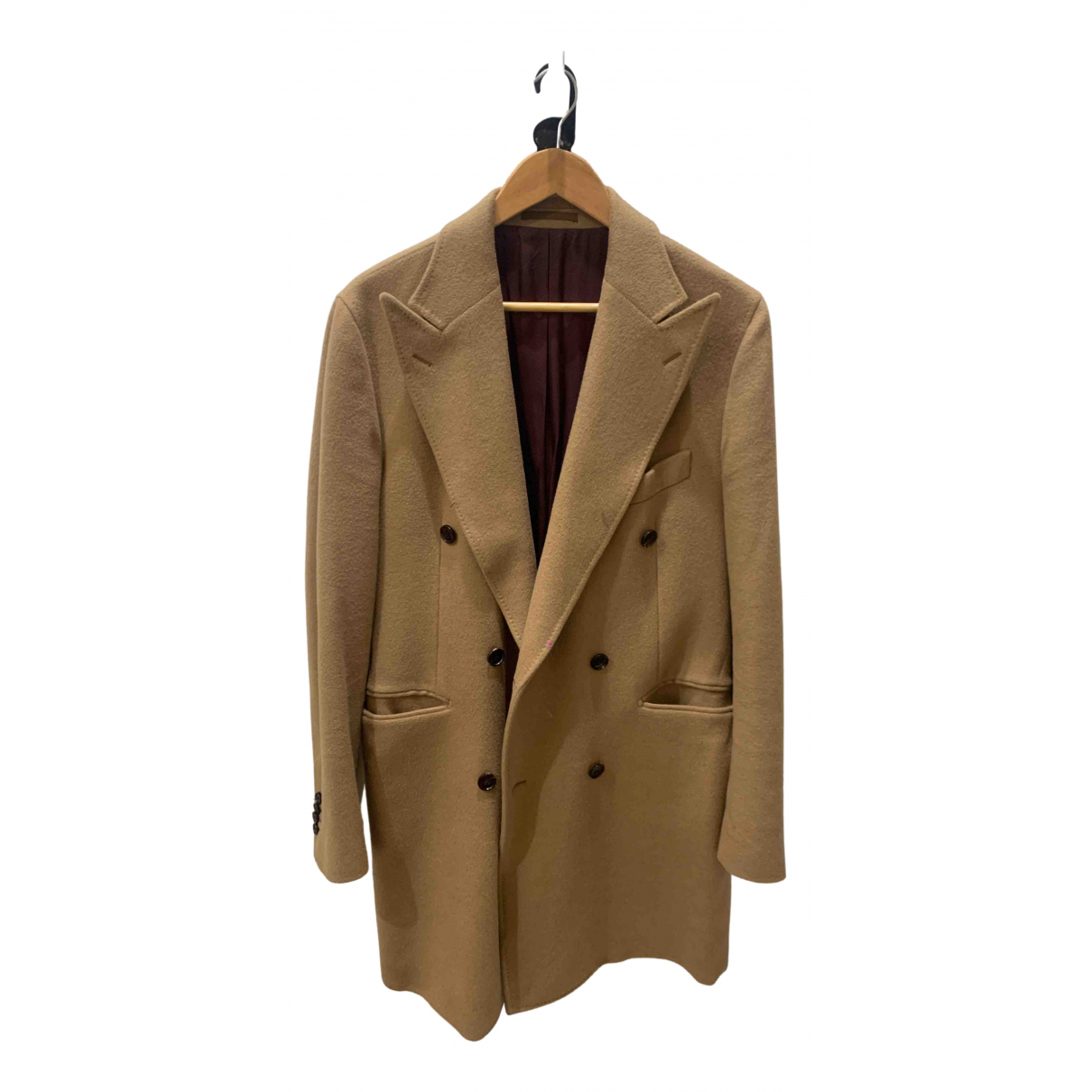 Suitsupply - Manteau   pour homme en toile - beige