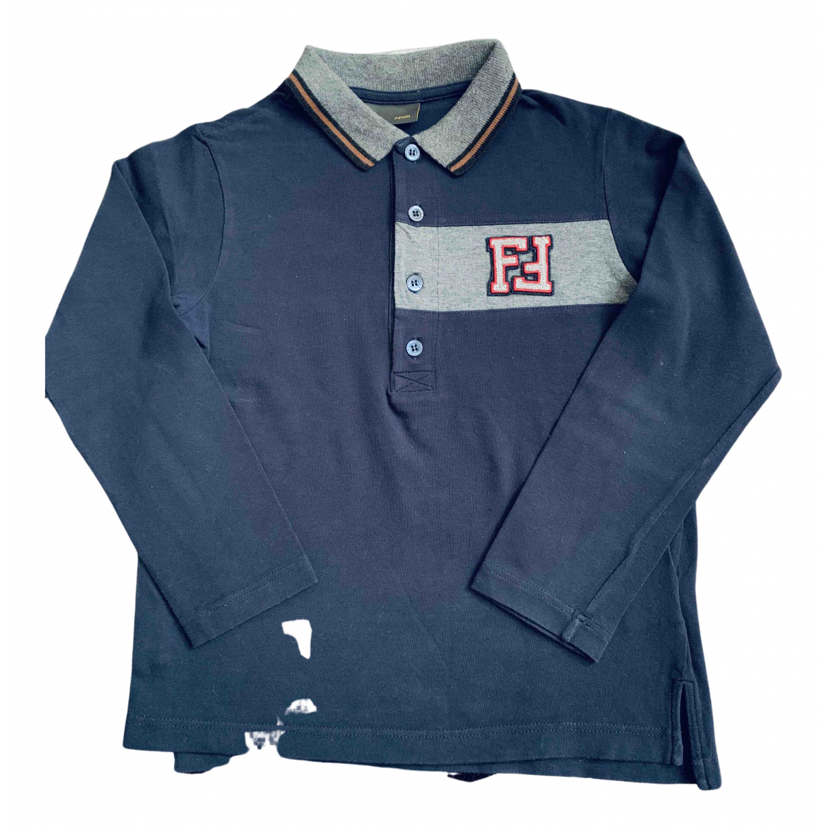 Fendi N Blue Cotton  top for Kids 8 years - up to 128cm FR