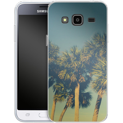 Samsung Galaxy J3 (2016) Silikon Handyhuelle - Sea Palms von Joy StClaire