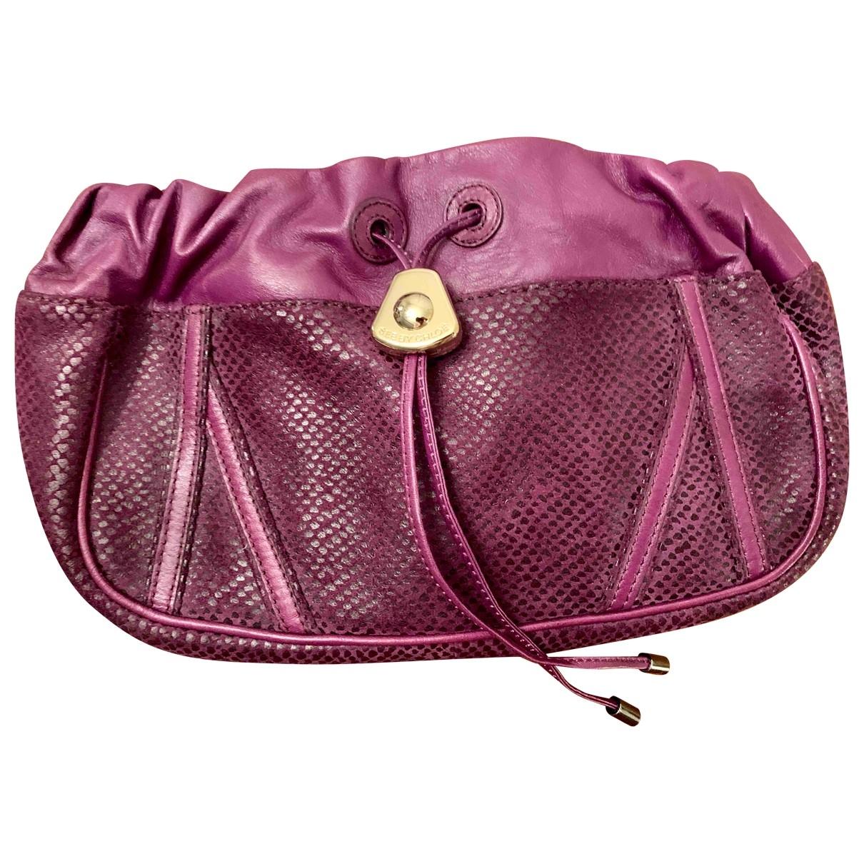 See By Chloe - Pochette   pour femme en cuir - violet